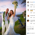 "Love for 12 years! Dwayne ""The Rock"" Johnson Shares Beautiful Photos of Hawaiian Wedding to Lauren Hashian#%^&*^&……"